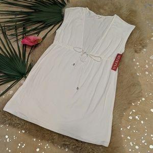 Merona white beach cover up